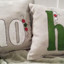 Holiday Decor - Ho Ho Ho Pillows - www.michellejdesigns.com