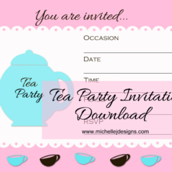 Guest Post Tea Party Invitation - www.michellejdesigns.com