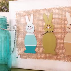Paint Chip Bunny Canvas - www.michellejdesigns.com