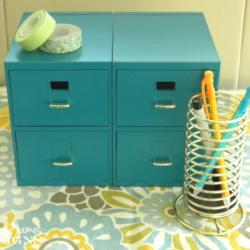 Mini File Cabinet - www.michellejdesigns.com