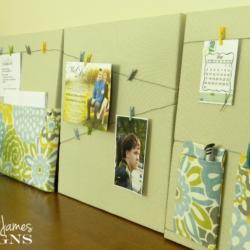 DIY Office Memo Boards - www.michellejdesigns.com
