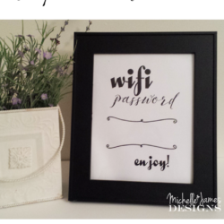 Wifi Password Printable - www.michellejdesigns.com
