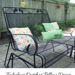 Fabulous Outdoor Pillow Decor - www.michellejdesigns.com