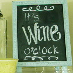 Dollar Spot Chalkboard Easel - www.michellejdesigns.com - I added to the original dollar spot find and came up with this fun piece. #DIY #chalkboard