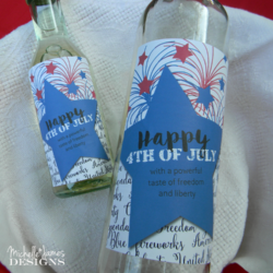 4th of July Wine Bottle Labels - www.michellejdesigns.com - a free printable to decorate your wine bottles for the holiday!