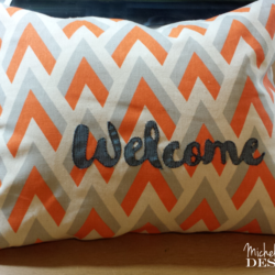 Guest Room Welcome Pillow - www.michellejdesigns.com - a guest room pillow that will welcome guests as they arrive!