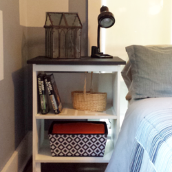 Guest Room Bedside Tables - www.michellejdesigns.com - these tables went from ugly ducks to the star of the room!