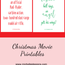 Christmas Movie Printables - www.michellejdesigns.com - Print and frame these classic quotes from A Christmas Story and It's A Wonderful Life to hang each holiday season!