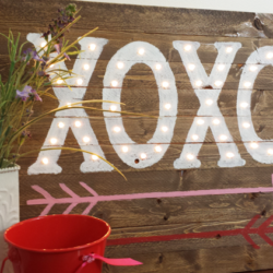 XOXO Valentine Marquee - www.michellejdesigns.com - We will create this 15 x 20 wood Valentine Marquee sign for your holiday decor!