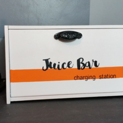 Guest Room Juice Bar - www.michellejdesigns.com - let me show you how I created a juice bar charging station for our guest room!