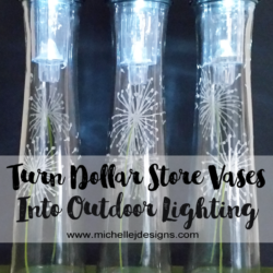 Dollar Store Vases to Outdoor Lighting - www.michellejdesigns.com