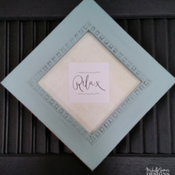 DIY Shutter Art - www.michellejdesigns.com - I created art using a shutter and a frame from the thrift store!