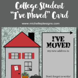 Back To School - www.michellejdesigns.com - I have designed an address change card and a back to school scrapbooking kit and they include free printables! Come over and get them downloaded