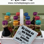 Wine-Countdown - www.michellejdesgins.com - This would be a special treat to give or receive. Who wouldn't love counting down the days to Christmas with a one-serving bottle of wine each day!