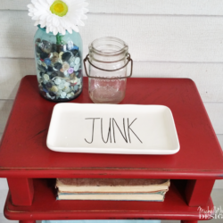 Red is not a color I use too often but after completing this painted red table my mind has been changed. The color along with the distressing turned out perfectly! www.michellejdesigns.com