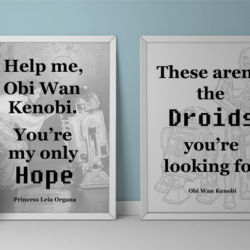 It is the 40th anniversary of Star Wars A New Hope. I created some Star Wars Printables that can be displayed in your home with pride! www.michellejdesigns.com