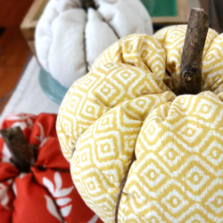 I love pumpkins. I decided to make DIY fabric pumpkins this year to ease into my fall decor! - www.michellejdesigns.com