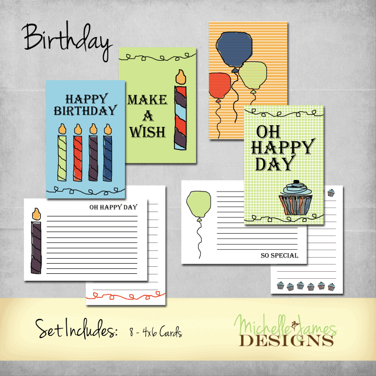 Birthday Kit for Project Life Pocket Pages - www.michellejdesigns.com