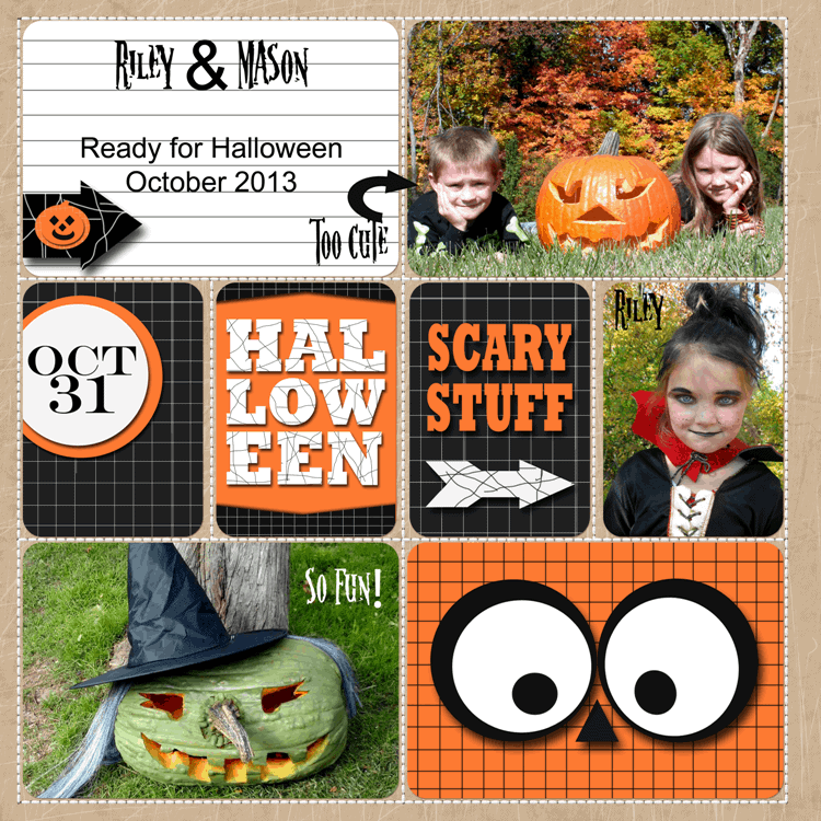 October 31 - Project Life Set $2.99- https://michellejdesigns.com - An adorable set of cards to be used on digital or printed for cards or scrapbook pages - #projectlife, #halloween, #digitalscrapbooking