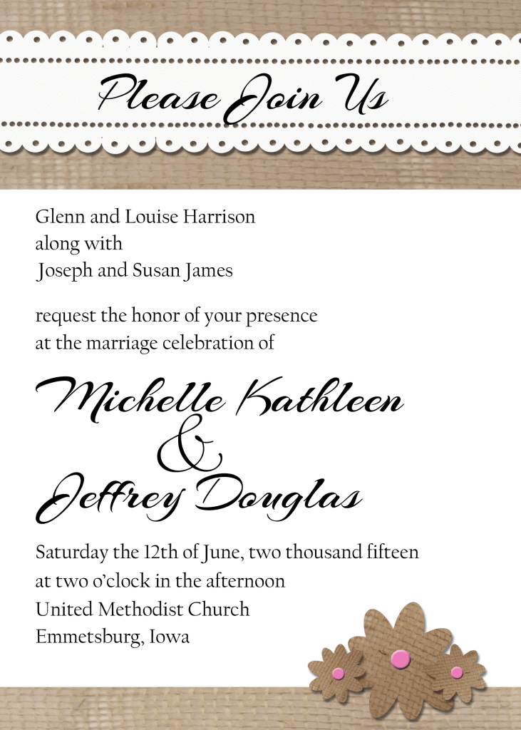 Burlap and Lace Wedding Suite - www,michellejdesigns.com