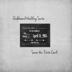 Chalkboard Save the Date Add-On Card - www.michellejdesigns.com