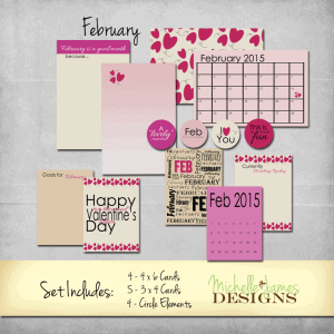 February 2015 Kit - www.michellejdesigns.com