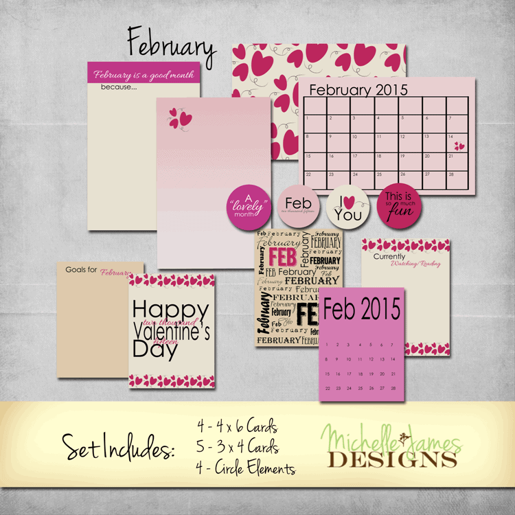 February 2015 Kit - www.michellejdesigns.com