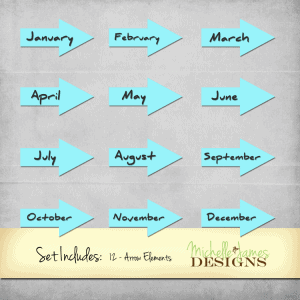 Months of the Year Arrows  - www.michellejdesigns.com