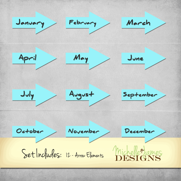Months of the Year Arrows copy