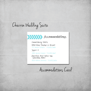 Chevron Wedding Invitation Suite Accommodations Add-On - www.michellejdesigns.com
