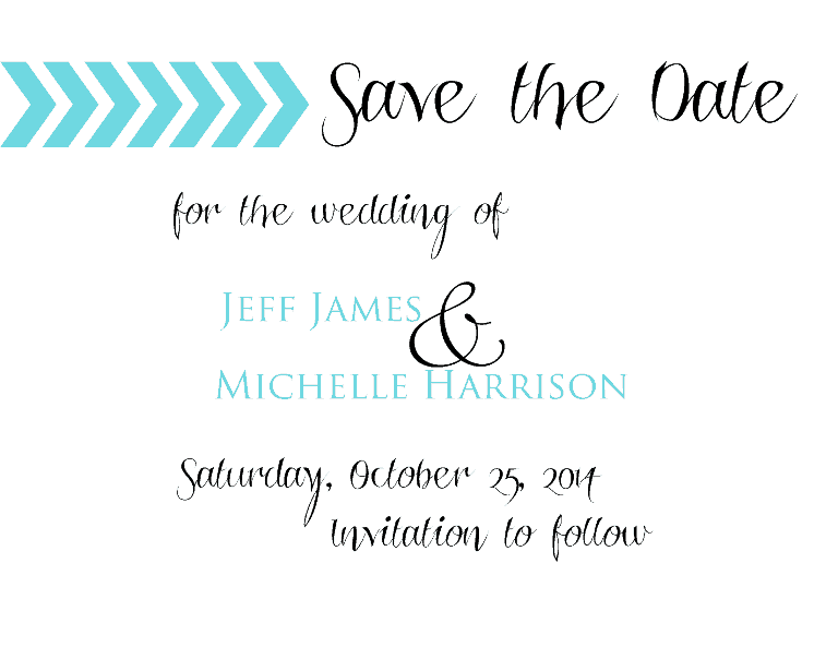 Chevron Save the Date Add-On - www.michellejdesigns.com