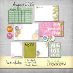 August 2015 Kit – Project Life Pocket Pages